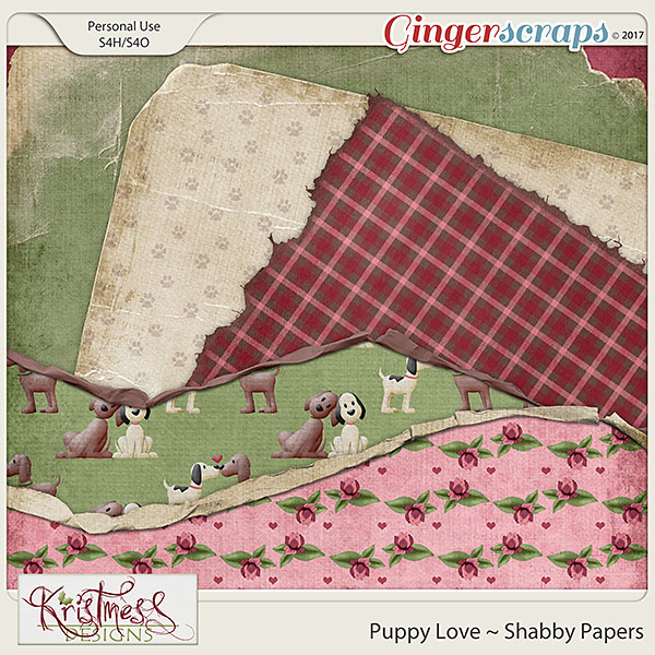 Puppy Love Shabby Papers