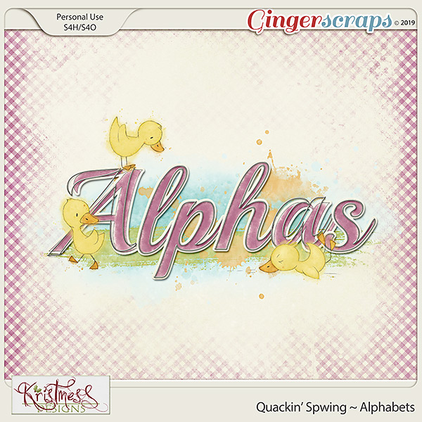Quackin' Spwing Alphabets