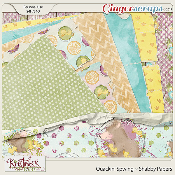 Quackin' Spwing Shabby Papers