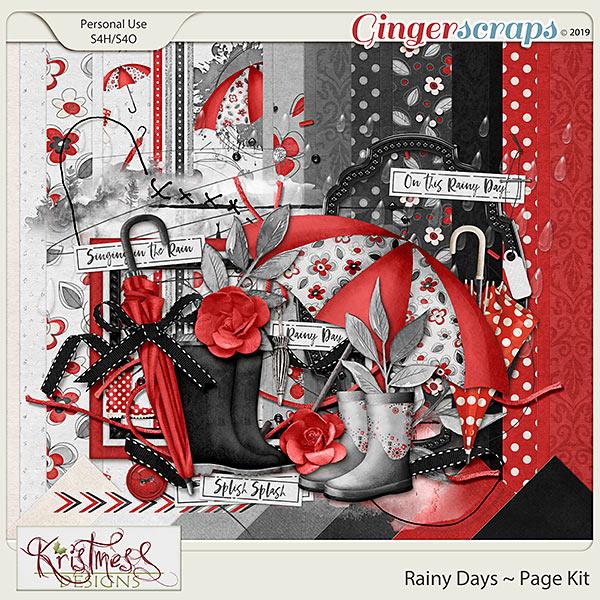 Rainy Days Page Kit