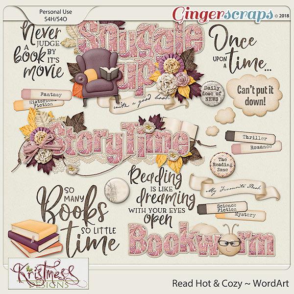 Read Hot & Cozy WordArt
