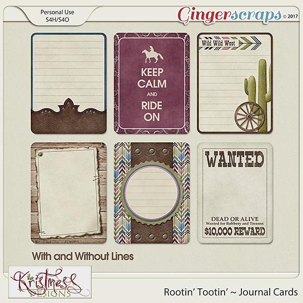 Rootin' Tootin' Journal Cards