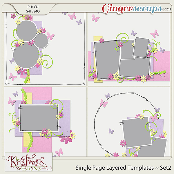 Single Page Layered Templates ~ Set2