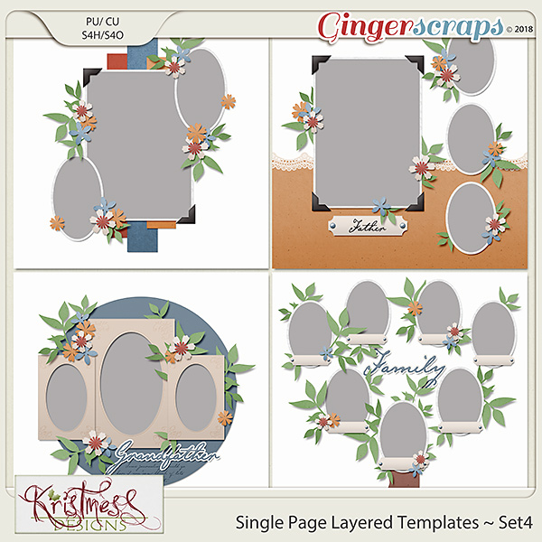 Single Page Layered Templates ~ Set4