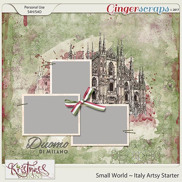 Small World ~ Italy Artsy Starter