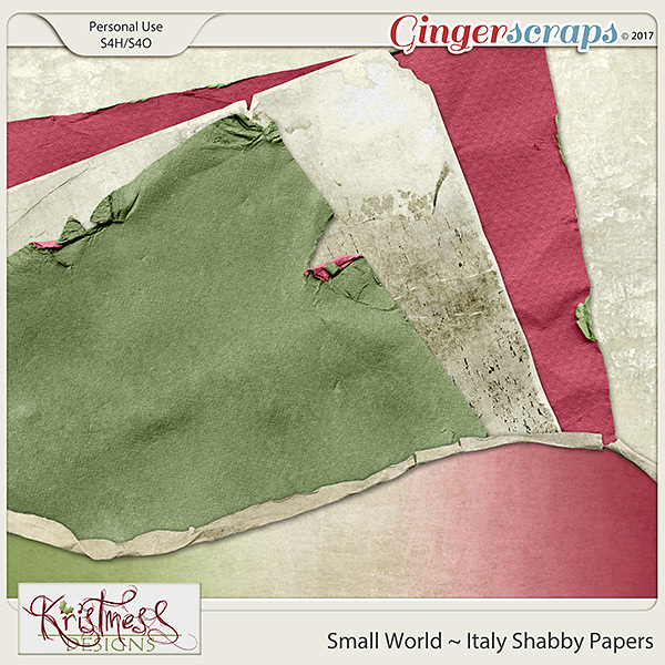 Small World ~ Italy Shabby Papers