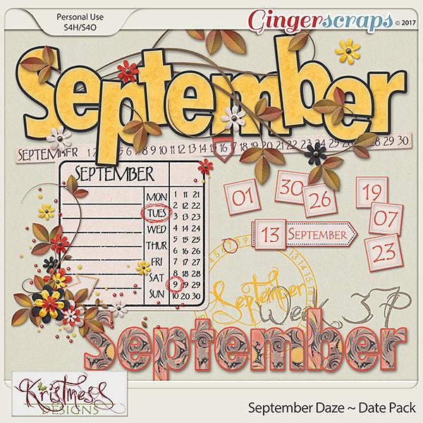 September Daze Date Pack