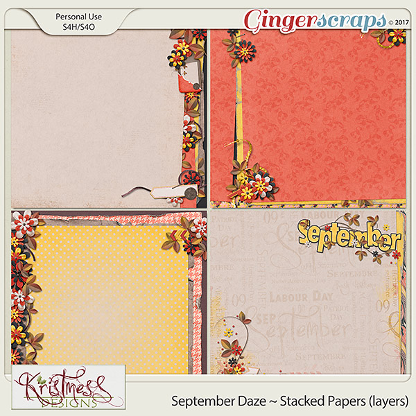 September Daze Stacked Papers (layers)