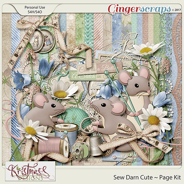 Sew Darn Cute Page Kit