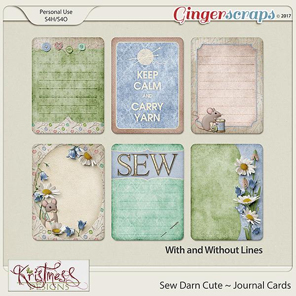 Sew Darn Cute Journal Cards