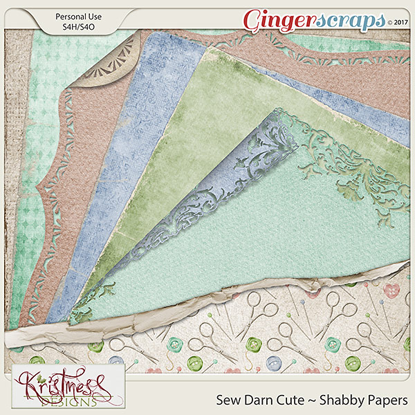 Sew Darn Cute Shabby Papers