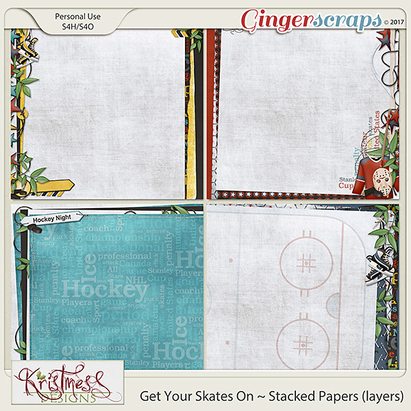 Get Your Skates On Stacked Papers (layers)