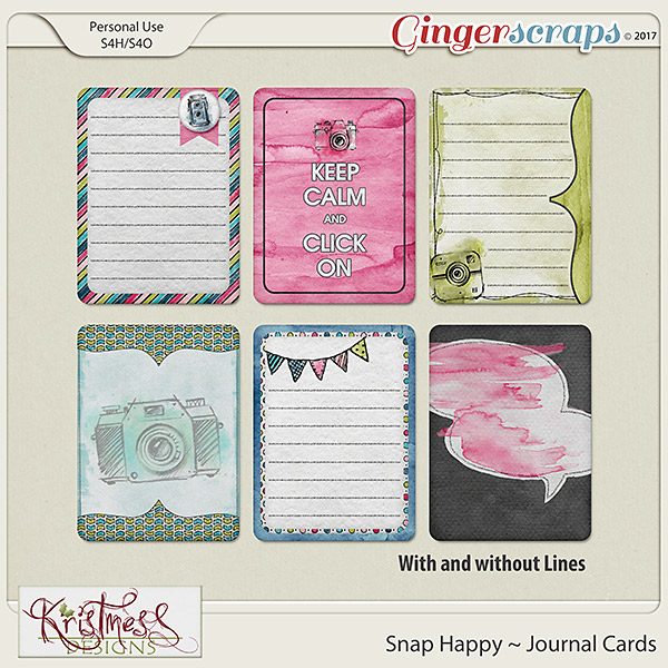 Snap Happy Journal Cards