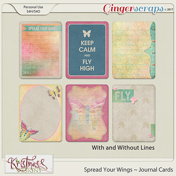 Spread Your Wings Journal Cards