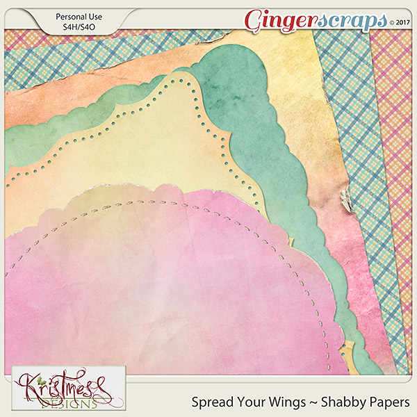 Spread Your Wings Shabby Papers