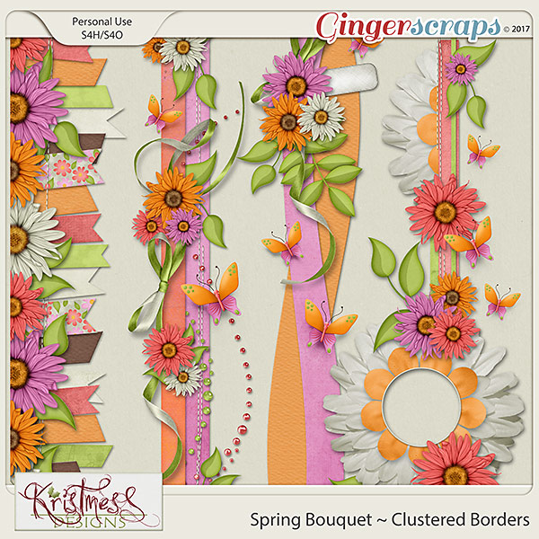 Spring Bouquet Clustered Borders