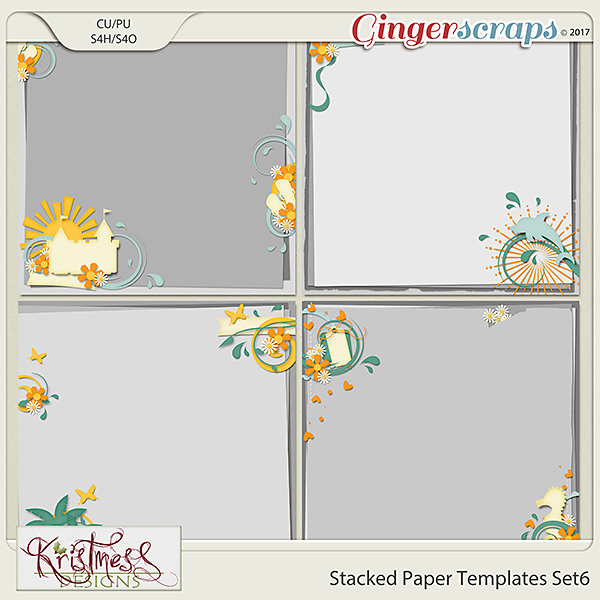 Stacked Paper Templates Set 6
