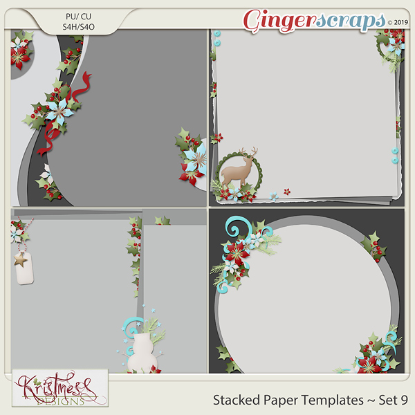 Stacked Paper Templates Set 9