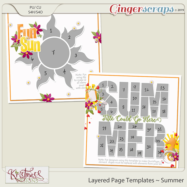 Layered Page Templates ~ Summer