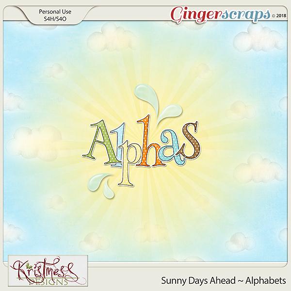 Sunny Days Ahead Alphabets