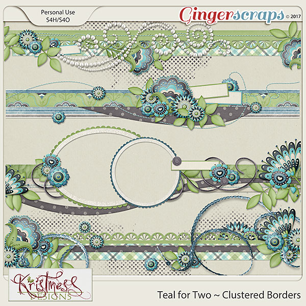 Teal for Two Clustered Borders