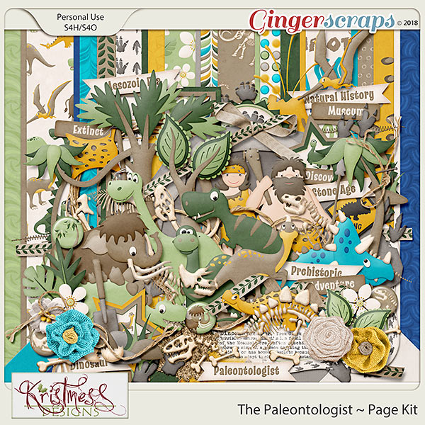 The Paleontologist Page Kit