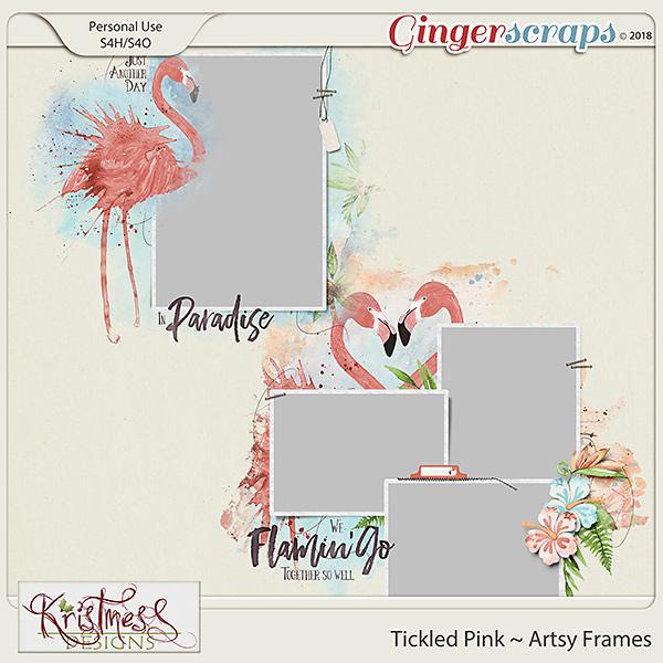 Tickled Pink Artsy Frames