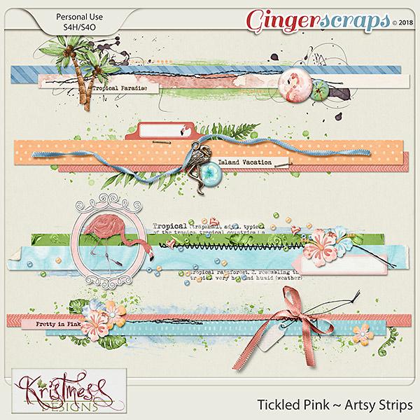 Tickled Pink Artsy Strips
