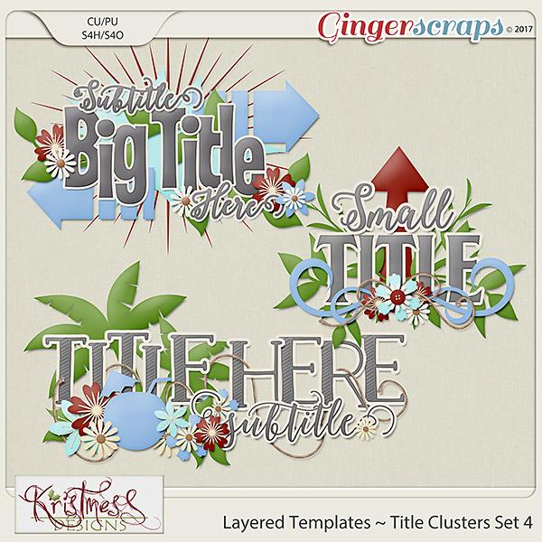Layered Title Templates Set 4