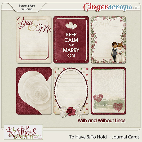 To Have & To Hold Journal Cards