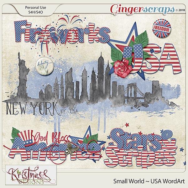 Small World ~ USA WordArt