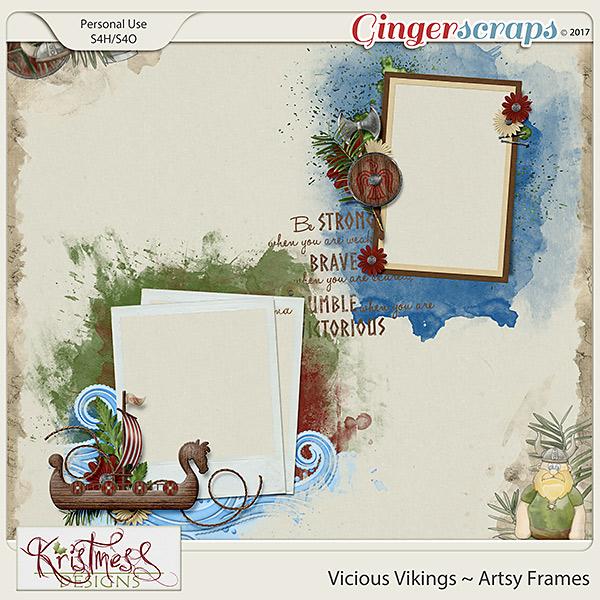 Vicious Vikings Artsy Frames