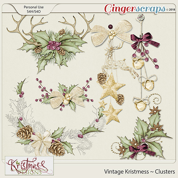 Vintage Kristmess Clusters