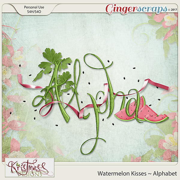 Watermelon Kisses Alphabet