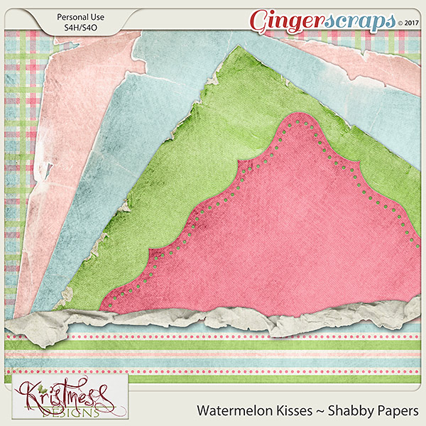 Watermelon Kisses Shabby Papers