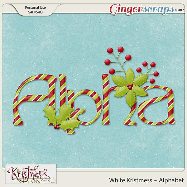 White Kristmess Alphabet