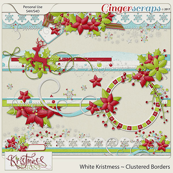 White Kristmess Clustered Borders