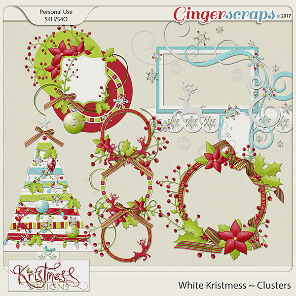 White Kristmess Clusters