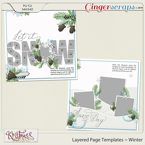 Layered Page Templates ~ Winter