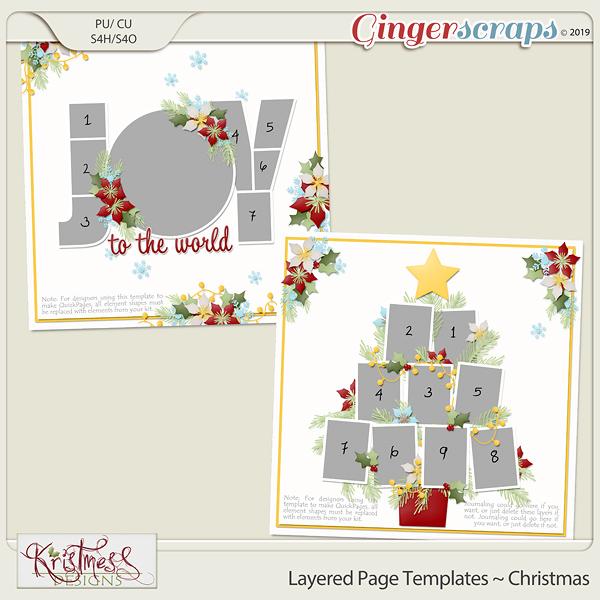 Layered Page Templates ~ Christmas
