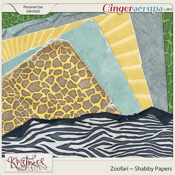 Zoofari Shabby Papers