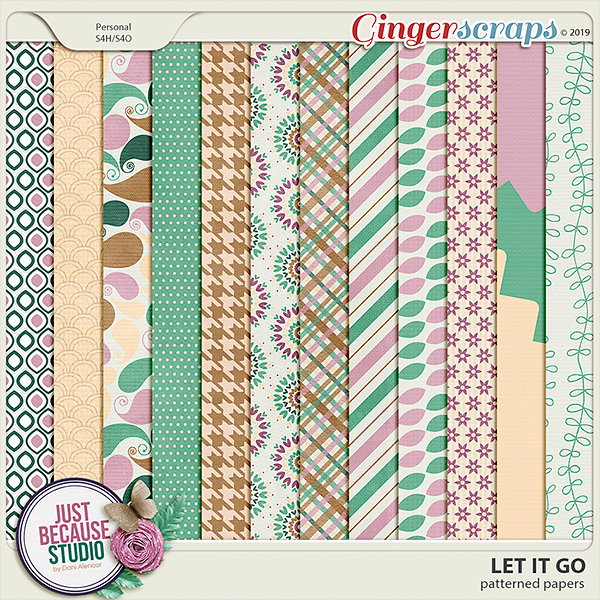 Let It Go Patterned Papers by JB Studio