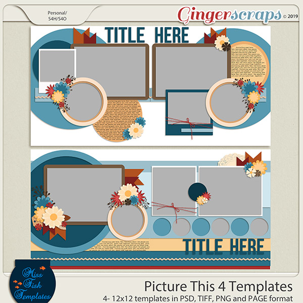 Picture This 4 Templates by Miss Fish