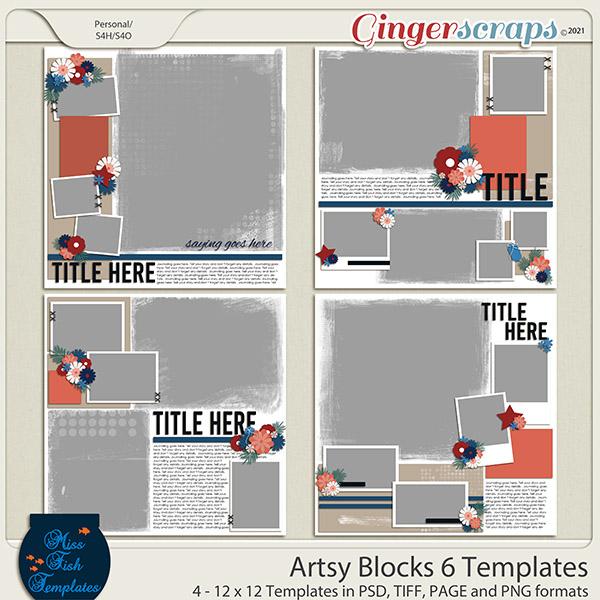Artsy Blocks 6 Templates by Miss Fish