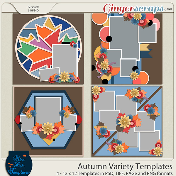 Autumn Variety Templates by Miss Fish