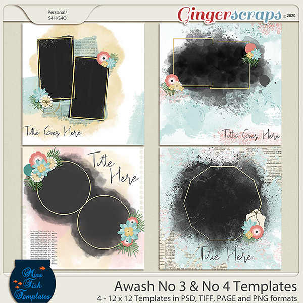 Awash No 3 and No 4 Templates by Miss Fish