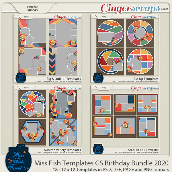 2020 Birthday Template Bundle by Miss Fish
