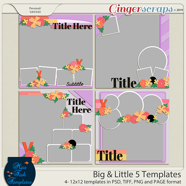 Big & Little Templates 5 by Miss Fish Templates