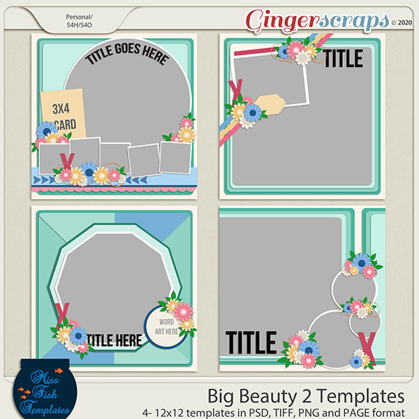 Big Beauty 2 Templates by Miss Fish