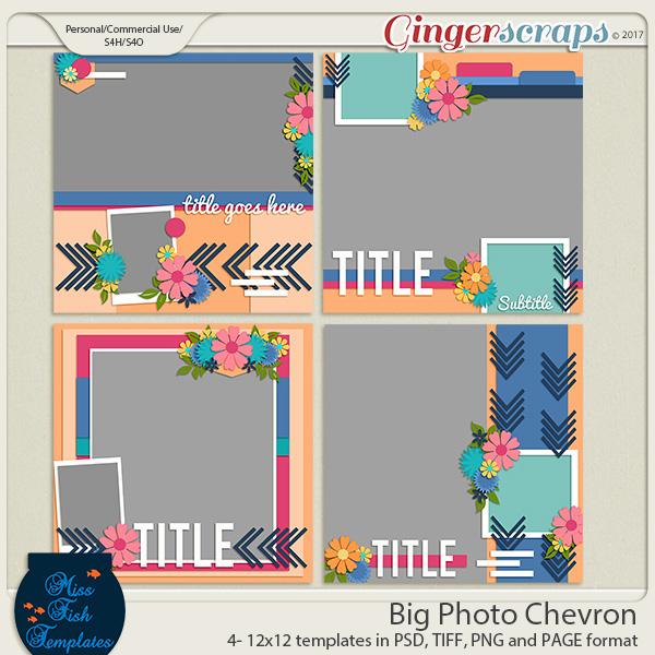 Big Photo Chevron Templates by Miss Fish